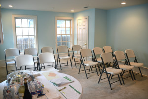Set-up for a neighborhood participation meeting. These community meetings are required for zoning changes, and Webre Consulting will organize and host them for you.